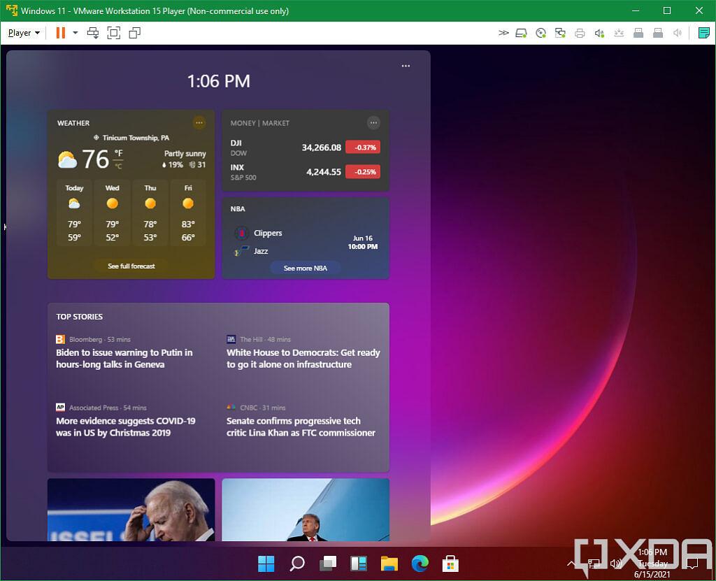 Noticias e intereses de Windows 11