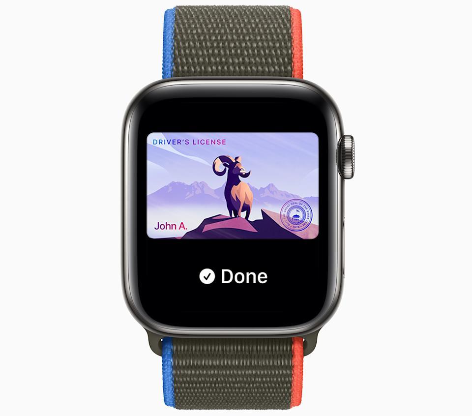 Pronto podrás poner tu licencia de conducir en tu Apple Watch.  (Foto: Apple)