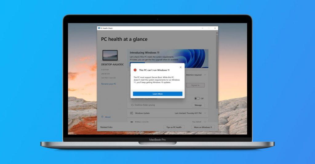 Microsoft cambia los requisitos de la CPU para instalar Windows 11, pero la compatibilidad con Mac sigue sin estar clara