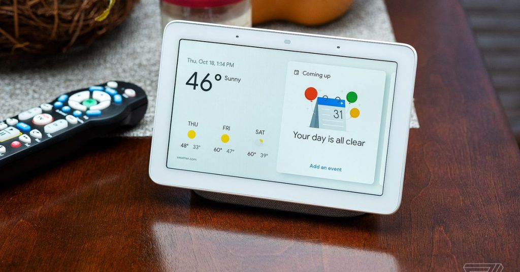 El sistema operativo Fuchsia de Google se está implementando en todos los Nest Hub de primera generación