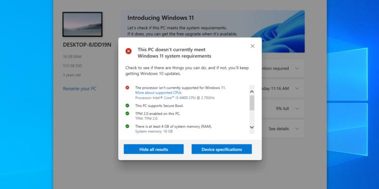 La aplicación PC Health Check actualizada le dirá por qué no puede ejecutar Windows 11